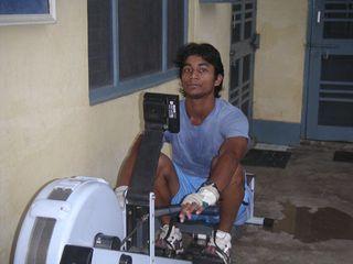 Vijay rowing