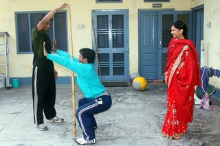 Deepak Training with Vijai and Puja