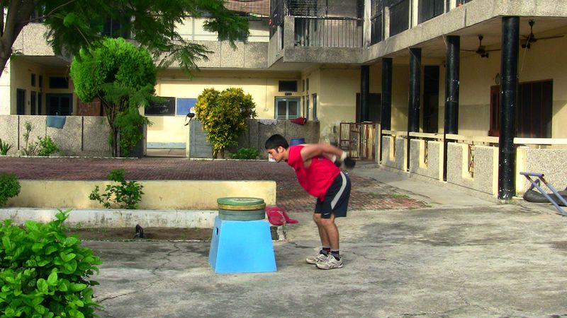Vijay pal doing box jump